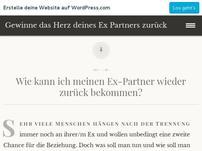 Blog Ex zurück gewinnen