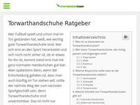 Torwarthandschuhe-Ratgeber.com
