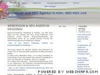 Webdesign und Suchmaschinenoptimierung Agentur in Köln