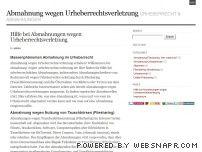 Abmahnung wegen Urheberrechtsverletzung