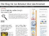 Der Blog für das Internet über das Internet