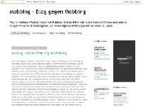 Mobbing - Blog gegen Mobbing