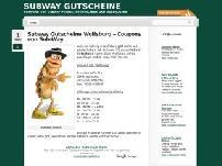 Subway Gutscheine