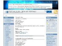 Festival Blog - Open Air Festivals