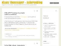 Klaus Thenmayer - Autorenblog
