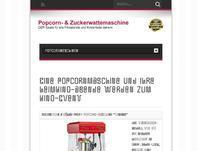 Test Popcorn-, Zuckerwattemaschine