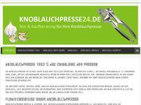 Knoblauchpressen Test