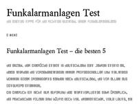 Funkalarmanlagen Test