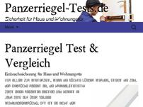 Panzerriegel Tests