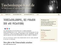 Taschenlampen Blog