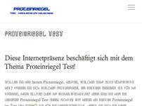 Proteinriegel Test 2016