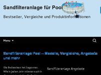 Pool Sandfilteranlage Ratgeber