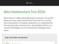 Akku-Heckenschere Test