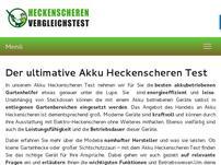 Akku Heckenscheren Test