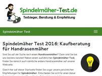 Spindelmäher Test