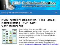Kühl Gefrierkombination Test