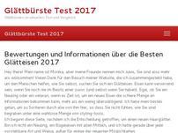 Glaettbuerste Test