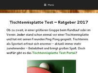 Tischtennisplatte Test & Vergleich