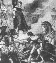 Scheiterhaufen im Mittelalter