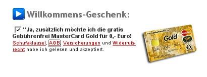 Kreditkarten Geschenk