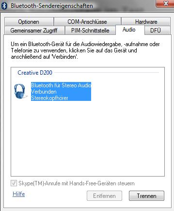 Bluetooth Eigenschaften
