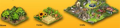 Die Farmerama Felder