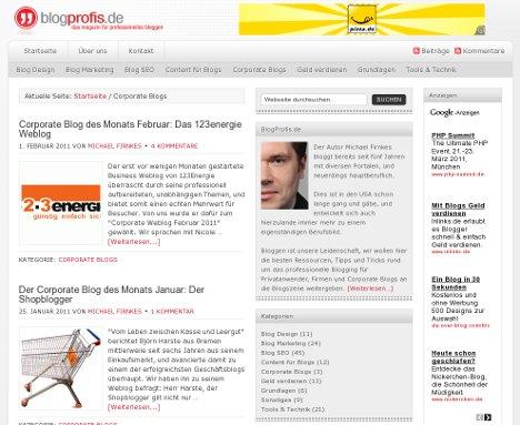 Die Wahl zum Corporate Blog des Jahres