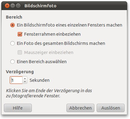Screenshot mit Gimp erstellen