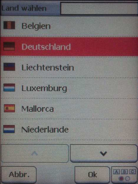 Länderauswahl im IBEX mit Zusatzkarten