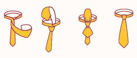 Einfacher Krawattenknoten